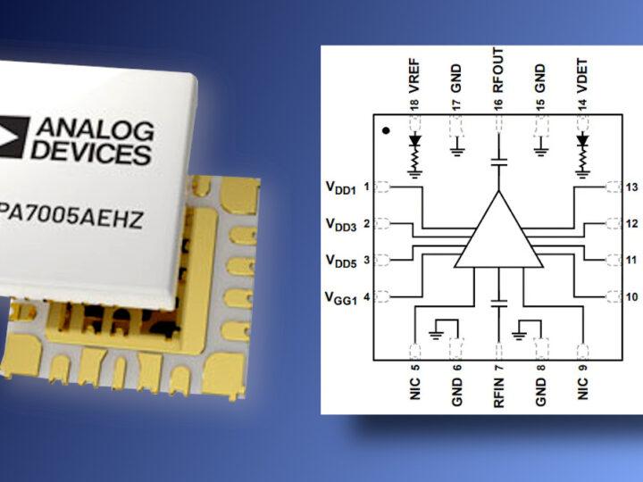 Amplificatore di potenza MMIC ADPA7005MMIC, ideale per applicazioni lineari